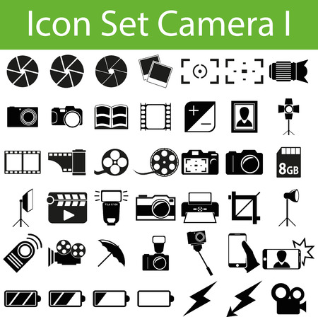 Icon Set Camera I with 42 icons for different purchase