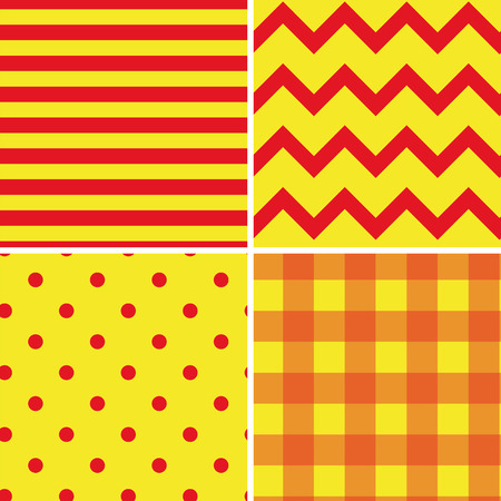 complementary: Pattern Collection Seamless Retro Background with 4 pattern for different purchase