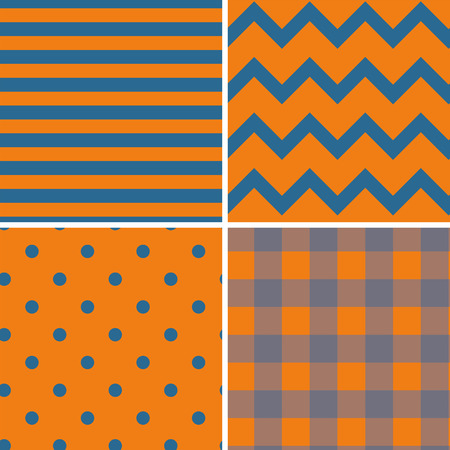 continuously: Pattern Collection Seamless Retro Background with 4 pattern for different purchase