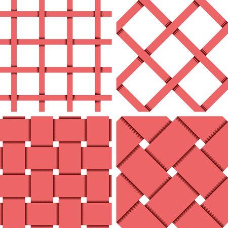 Motif Fond vectorielle Seamless Textile avec 4 modèle pour l'achat différente Vecteurs