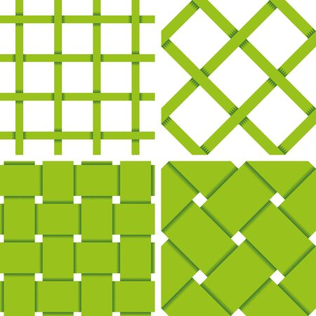textil: Pattern Vector Seamless Textile Background with 4 pattern for different purchase Illustration