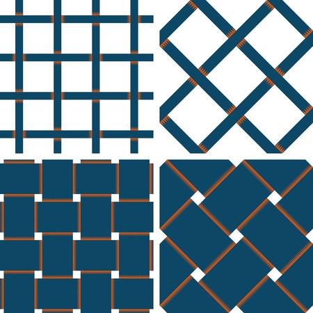 Motif Fond vectorielle Seamless Textile avec 4 modèle pour l'achat différente