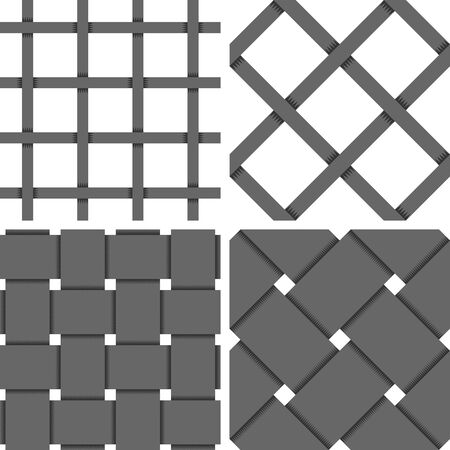 muster: Pattern Vector Seamless Textile Background with 4 pattern for different purchase Illustration