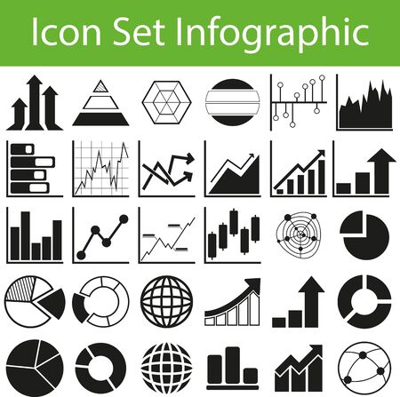 stockmarket chart: Icon Set Infographic with 30 icons for different purchase