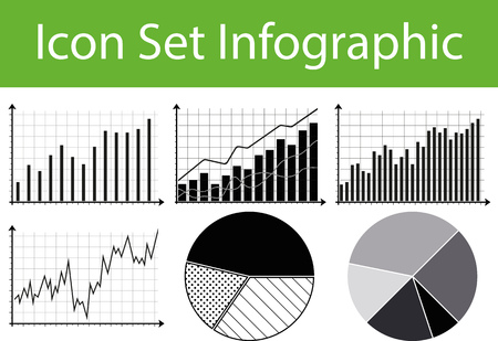stockmarket chart: Icon Set Infographic with 6 icons for different purchase Illustration