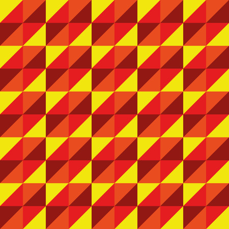 yellow red: Pattern Vector Seamless Polygon Triangle yellow red for different purchase Illustration