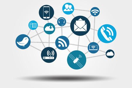 Graphic Vector Netwerk Communicatie voor verschillende aankoop