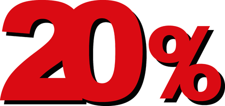 cheaper: High Quality Graphic Illustration Vector Sale 20 Percent Illustration