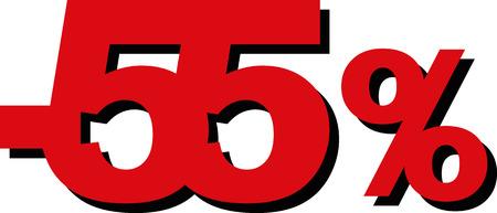 cheaper: High Quality Graphic Illustration Vector Sale 55 Percent Illustration