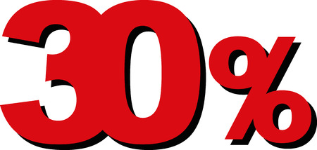 cheaper: High Quality Graphic Illustration Vector Sale 30 Percent Illustration
