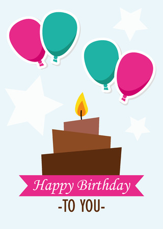birthday card: Poster Card Illustration Graphic Vector Happy Birthday To You for different purpose