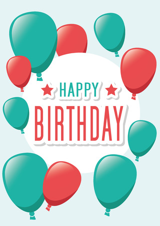 hintergrund liebe: Poster Card Illustration Graphic Vector Happy Birthday To You for different purpose