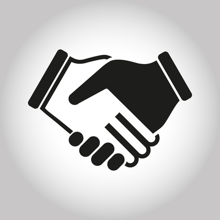 business hand shake: Illustration Icon Vector Shake Hands for different purpose