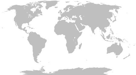 Illustratie Graphic Vector World Map grijs voor verschillende doeleinden