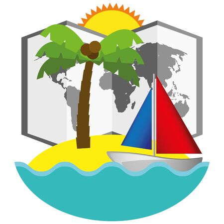 Illustration Graphic Vector Summer, Travel, Holiday for different purpose