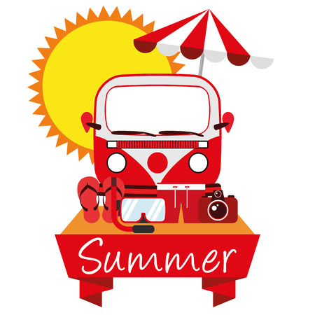 summer holiday: Illustration Graphic Vector Summer, Travel, Holiday for different purpose