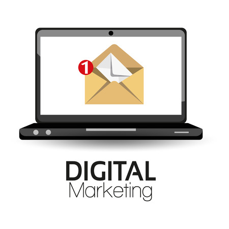 email icon: Illustration Graphic Vector Digital Marketing for different purpose