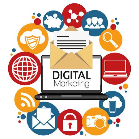 Illustration Graphic Vector Digital Marketing for different purpose