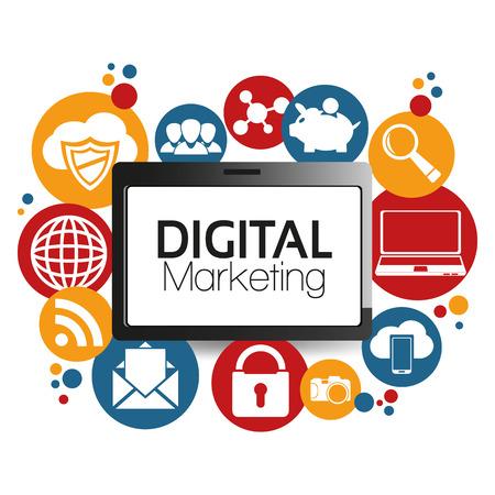art digital: Illustration Graphic Vector Digital Marketing for different purpose