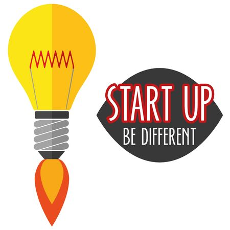 founding: Illustration Vector Graphic Start Up for different purpose in web and graphic design