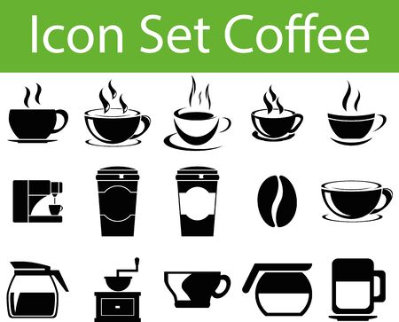 indulgence: Icon Set Coffee I with 15 icons for different purchase in web und graphic design