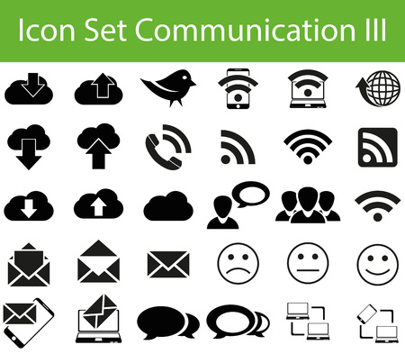 twitter: Icon Set Communication III with 30 icons for different purchase for web and graphic design Illustration