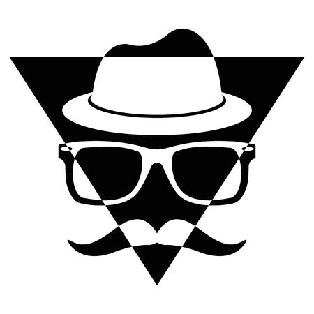 konzept: Illustration Vector Graphic Triangle Hipster for different purpose in web and graphic design Illustration