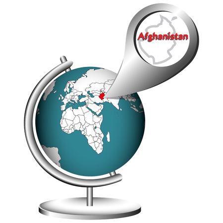 miserable: Illustration Vector Graphic Globe Afghanistan for different purpose in web and graphic design