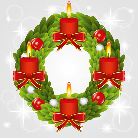 advent wreath: Illustration  Graphic Christmas for different purpose in web and graphic design