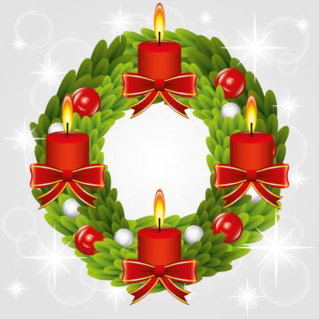 corona de adviento: Navidad Ilustración gráfica para diferentes propósitos en la web y diseño gráfico