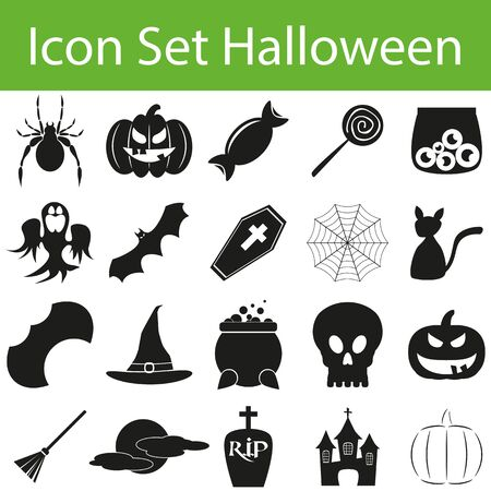 zeichen: Icon Set Halloween I for the creative use in graphic design Illustration