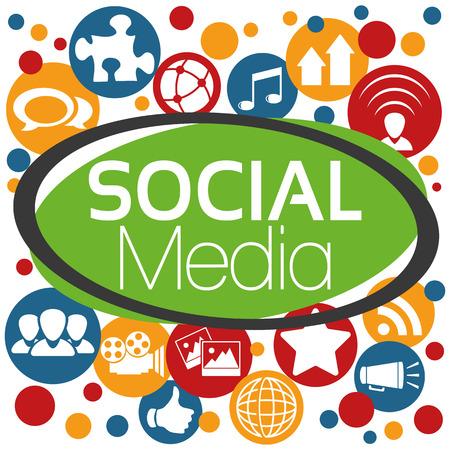 Illustration Vector Graphic Social Media for the creative use in graphic design Vettoriali