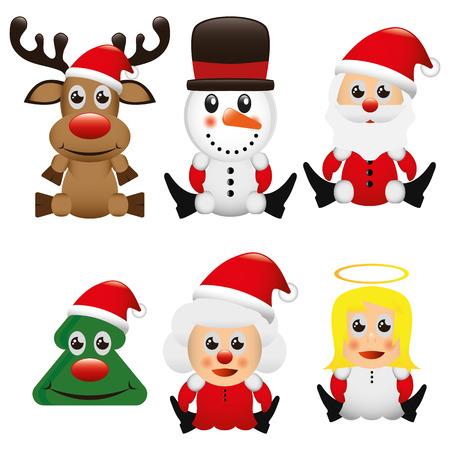 Illustrazione grafica vettoriale di Natale per scopo diverso nel web e graphic design Archivio Fotografico - 48065511