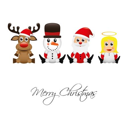 rudolf: Illustration Vector Graphic Christmas for different purpose in web and graphic design Illustration