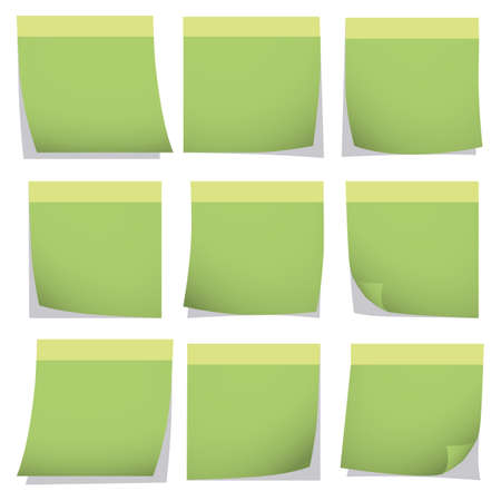 post it: Illustration Vector Graphic Collection Post It for the creative use in graphic design