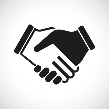 Illustration Icon Vector Shake Hands for different purpose