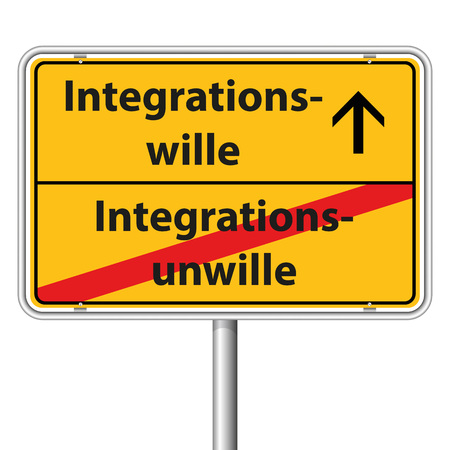 Illustration Graphic Road Sign Integration for the creative use in web and graphic design