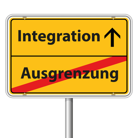 religious tolerance: Illustration Graphic Road Sign Integration for the creative use in web and graphic design