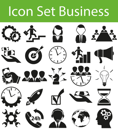 rev: Icon Set Business with 25 icons for the creative use in graphic design Illustration