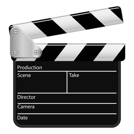directed: Illustration Graphic Clapperboard for the creative use in web and graphic design Illustration