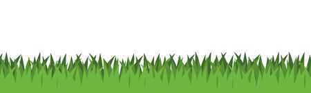 green banner: Illustration Graphic Grass with copyspace for the creative use in web and graphic design