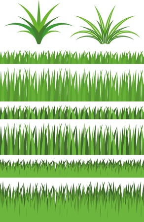 copyspace: Illustration Graphic Set Grass with copyspace for the creative use in web and graphic design