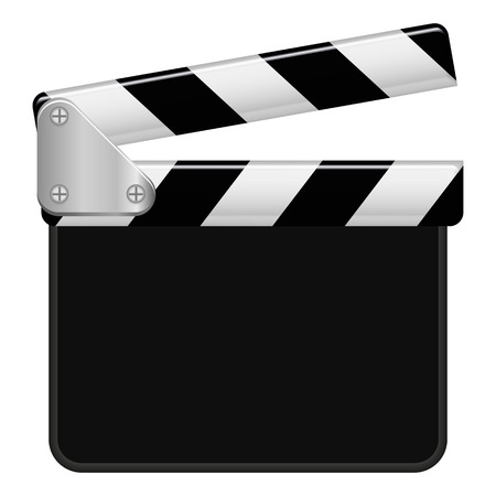 Illustration Graphic Clapperboard with copyspace for the creative use in web and graphic design