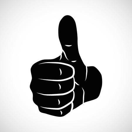 Icon Illustration Vector Graphic Thumbs Up for the creative use in graphic design