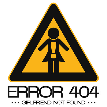 not found: Icon Illustration Graphic Error 404 Girlfriend not found for the creative use in graphic design