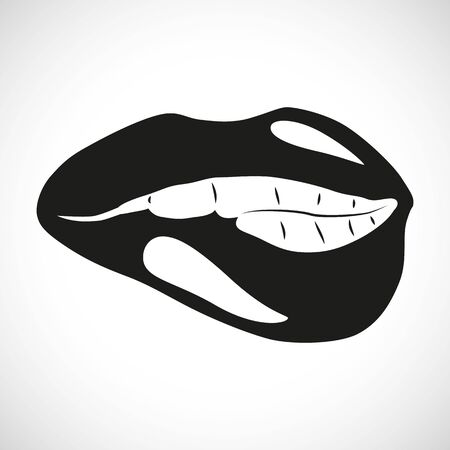 biting: Icon Illustration Graphic Biting Lip for the creative use in graphic design Illustration