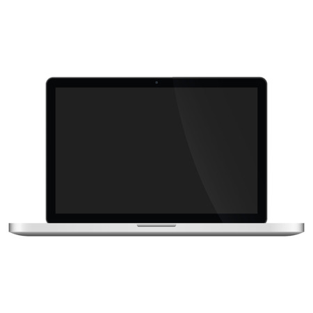 laptop screen: Illustration Graphic Laptop with black screen for the creative use in web and graphic design Illustration