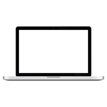 exempted: Illustration Graphic Laptop with white screen for the creative use in web and graphic design Illustration