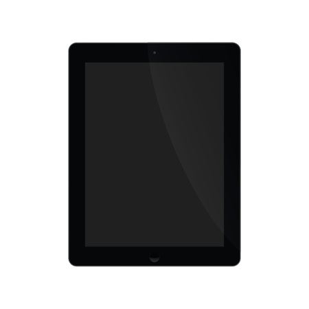 exempted: Illustration Graphic Tablet with black screen for the creative use in web and graphic design