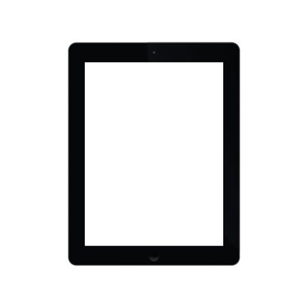 exempted: Illustration Graphic Tablet with white screen for the creative use in web and graphic design